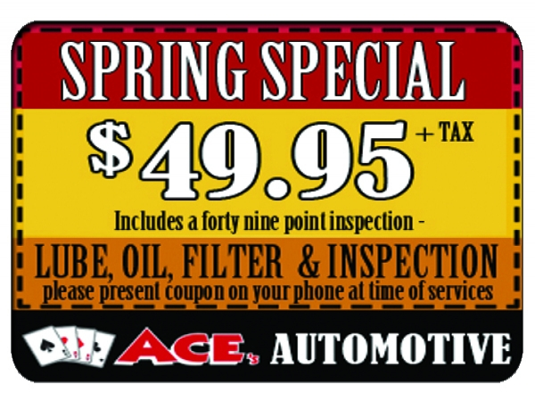 49.95 Gift Card Ace's Spring Special