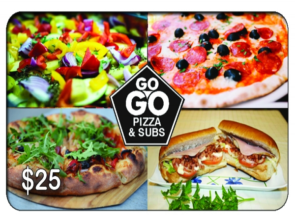GO GO PIZZA & SUBS $25 Gift Card