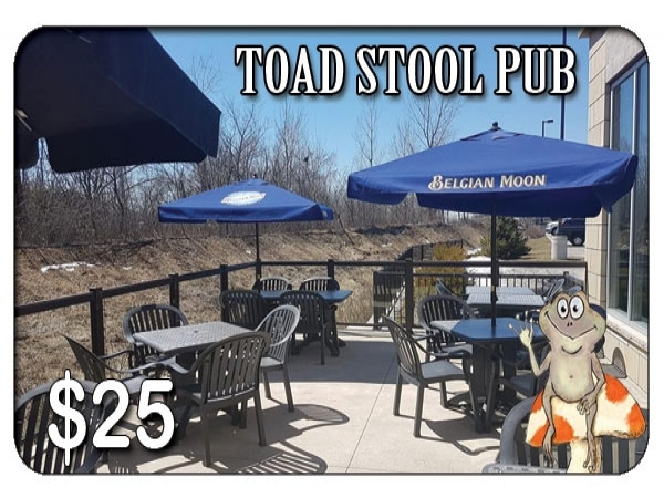 Toad Stool Bar and Grill $25 Gift Card