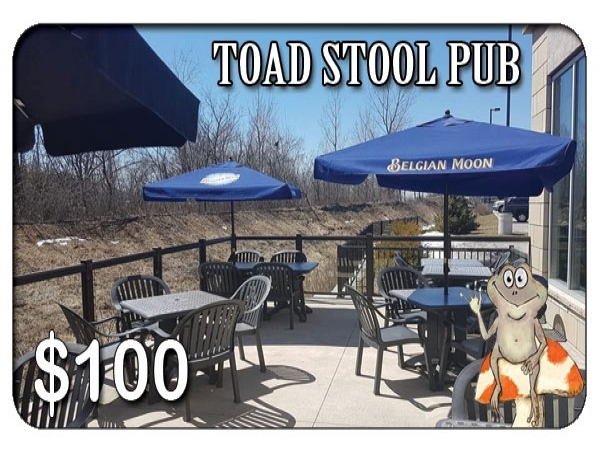 Toad Stool Bar & Grill $100 Gift Card
