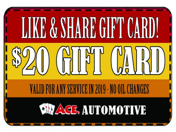 $20 OFF ANYTHING ACE- NOT OIL CHANGE