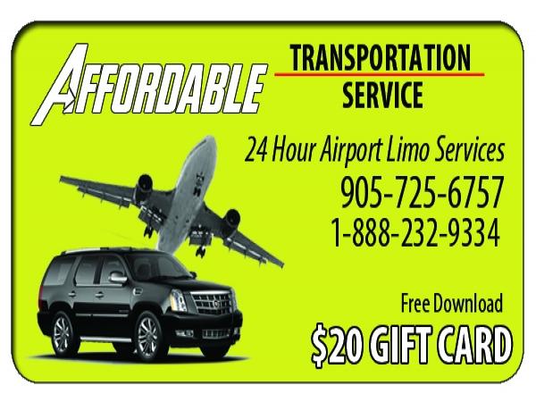 $20 Cash Card for Affordable Airport Return Trip Door to Door Service